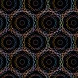 Teste padrão sem emenda dos círculos geométricos abstratos do hexágono, Imagens de Stock