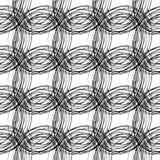 Teste padrão sem emenda dos círculos tirados pela pena Fotos de Stock Royalty Free