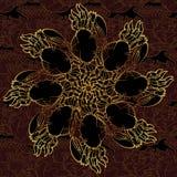 Teste padrão sem emenda dos caranguejos dourados Imagem de Stock