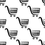 Teste padrão sem emenda dos carrinhos de compras Foto de Stock Royalty Free