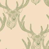 Teste padrão sem emenda dos cervos Fotos de Stock Royalty Free