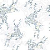 Teste padrão sem emenda dos cervos Imagens de Stock