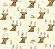 Teste padrão sem emenda dos cervos e do parafuso da iluminação ilustração royalty free