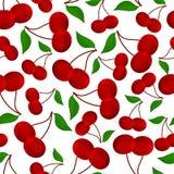 Teste padrão sem emenda dos cherrys, ilustração do vetor. Imagens de Stock Royalty Free