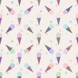 Teste padrão sem emenda dos cones de gelado Imagem de Stock Royalty Free