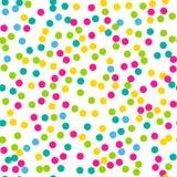 Teste padrão sem emenda dos confetes Fotografia de Stock
