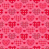 Teste padrão sem emenda dos corações Fotografia de Stock Royalty Free