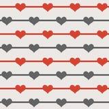 Teste padrão sem emenda dos corações ilustração royalty free