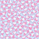 Teste padrão sem emenda dos corações Foto de Stock