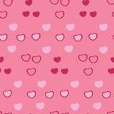Teste padrão sem emenda dos corações ilustração stock