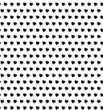Teste padrão sem emenda dos corações do às bolinhas Fotografia de Stock Royalty Free