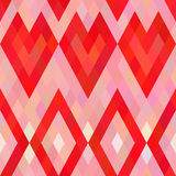 Teste padrão sem emenda dos corações do pixel Fotos de Stock Royalty Free