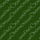 Teste padrão sem emenda dos corações do quadro Fotografia de Stock