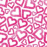 Teste padrão sem emenda dos corações, fundo do tema do amor ilustração stock
