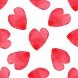 Teste padrão sem emenda dos corações Fundo escrito à mão do dia de Valentim 14 de fevereiro fundo ilustração do vetor