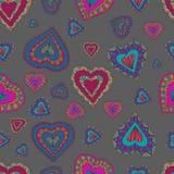 Teste padrão sem emenda dos corações Ilustração do vetor Imagem de Stock Royalty Free