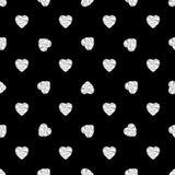 Teste padrão sem emenda dos corações Projeto do fundo Textura abstrata à moda moderna, conceito da cópia do dia de Valentim Molde Fotos de Stock Royalty Free