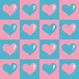 Teste padrão sem emenda dos corações vermelhos foto de stock royalty free