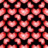 Teste padrão sem emenda dos corações vermelhos Fotografia de Stock