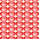 Teste padrão sem emenda dos corações vermelhos Fotografia de Stock Royalty Free
