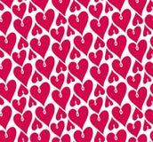 Teste padrão sem emenda dos corações Vetor que repete a textura agrupamento do valentin ilustração stock