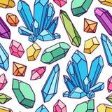 Teste padrão sem emenda dos cristais ilustração royalty free