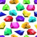Teste padrão sem emenda dos cristais multicoloridos do vetor ilustração royalty free