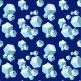 Teste padrão sem emenda dos cubos de gelo Imagem de Stock Royalty Free