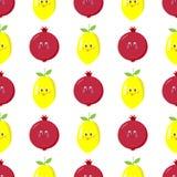 Teste padrão sem emenda dos desenhos animados da grandada do limão Imagens de Stock