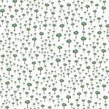 Teste padrão sem emenda dos desenhos animados das árvores verdes ilustração do vetor