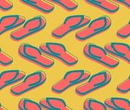 Teste padrão sem emenda dos deslizadores O verão calça o ornamento A praia carreg vagabundos ilustração royalty free