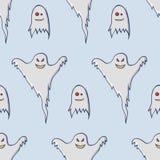 Teste padrão sem emenda dos fantasmas fotos de stock