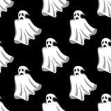 Teste padrão sem emenda dos fantasmas brancos de Dia das Bruxas Imagem de Stock