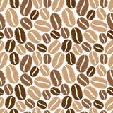 Teste padrão sem emenda dos feijões de café Imagens de Stock Royalty Free