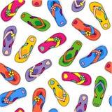 Teste padrão sem emenda dos flip-flops Fotografia de Stock Royalty Free