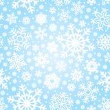 Teste padrão sem emenda dos flocos de neve () Fotografia de Stock