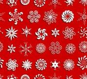Teste padrão sem emenda dos flocos de neve Fotografia de Stock Royalty Free