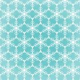 Teste padrão sem emenda dos flocos de neve Fotos de Stock Royalty Free