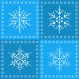 Teste padrão sem emenda dos flocos de neve Fotos de Stock