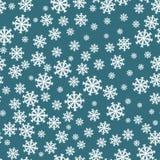 Teste padrão sem emenda dos flocos de neve Decoração do fundo do floco de neve Vetor do teste padrão do Natal Foto de Stock