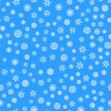 Teste padrão sem emenda dos flocos de neve do Natal com queda de neve ilustração royalty free