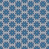 Teste padrão sem emenda dos flocos de neve florais ornamentado. Ilustração Royalty Free