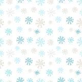 Teste padrão sem emenda dos flocos de neve Fundo do inverno O papel de envolvimento do projeto do Natal e do ano novo projeta Imagem de Stock
