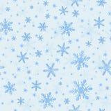 Teste padrão sem emenda dos flocos de neve para envolver Fotografia de Stock