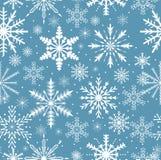 Teste padrão sem emenda dos flocos de neve Textura de repetição gelado Fundo infinito do Natal e do ano novo Ilustração do vetor Fotografia de Stock