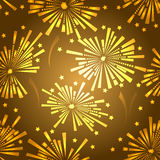 Teste padrão sem emenda dos fogos-de-artifício do feriado Imagem de Stock Royalty Free