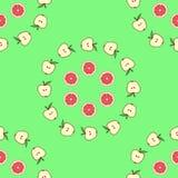 Teste padrão sem emenda dos frutos brancos do fundo Imagens de Stock