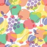 Teste padrão sem emenda dos frutos coloridos Foto de Stock Royalty Free