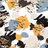 Teste padrão sem emenda dos garranchos na moda nas cores pastel Imagem de Stock