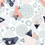 Teste padrão sem emenda dos garranchos na moda nas cores pastel Imagens de Stock Royalty Free